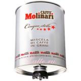 Кофе в зернах Molinari Cinque Stelle (Молинари 5 звезд), 3 кг, железная банка