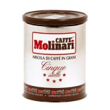Кофе в зернах Molinari Cinque Stelle (Молинари 5 звезд), 250 гр, железная банка