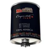 Кофе в зернах Molinari Cinque Stelle Темная обжарка (Молинари 5 звезд), 3 кг, железная банка