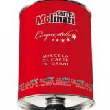 Кофе в зернах Molinari Cinque Stelle Red Tin (Ред Тин 5 звезд), 3 кг, железная банка