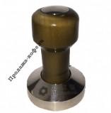 Темпер EXPERT CM (Эксперт СМ) стальной, с деревянной ручкой коричневого цвета, основание 58 мм